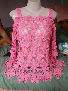 Fabulous Crochet a Little Black Crochet Dress Ideas. Georgeous Crochet a Little Black Crochet Dress Ideas. Black Crochet Dress, Crochet Blouse, Crochet Poncho, Irish Crochet, Crochet Lace, Baby Summer Dresses, Baby Skirt, Ruffle Skirt, Baby Dress