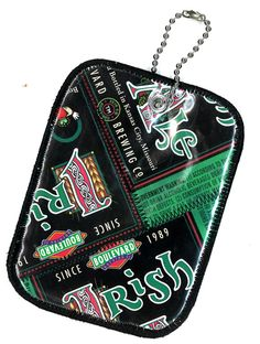 Luggage Tag from Repurposed Boulevard Brewing Irish Ale beer labels by squigglechick, $12.00