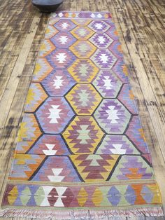 "Vintage Turkish Runner Rug,Carpet Runner,Kilim Runner 28,7""x86,6"" Hallway Rugs by RhythmOfTheRug on Etsy Kilim Runner, Mish Mash, Hallway Rug, Turkish Kilim Rugs, Carpet Runner, Runes, Rugs On Carpet, Bohemian Rug, Hand Painted"
