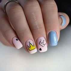 cute gel manicure designs that you want to copy nail art Cute Acrylic Nails, Cute Nails, My Nails, Easter Nails, Pretty Nail Art, Halloween Nail Art, Gel Nail Designs, Nagel Gel, Perfect Nails