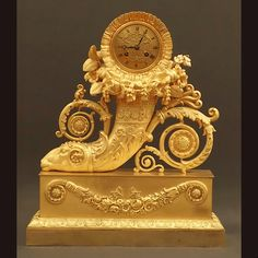 Rare and Grand Clock French Restoration Period Rare And Grand Clock F