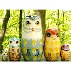 Owl nesting dolls.