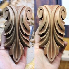 Diy Resin Crafts, Wood Crafts, Diy And Crafts, Stone Pillars, Wood Carving Designs, Art Carved, Clay Design, Pattern And Decoration, Metal Wall Decor