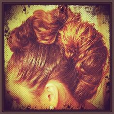 Mohawk styled hair: make four pony Tails down the middle of you head (where a mohawk would go) and then turn them into messy buns connected them to eachother (usin bobby pins and such) and voala!! :) <3