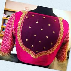 Pattu Saree Blouse Designs, Stylish Blouse Design, Fancy Blouse Designs, Bridal Blouse Designs, Blouse Neck Designs, Blouse Patterns, Mehandi Designs, Logo Branding, Festivals
