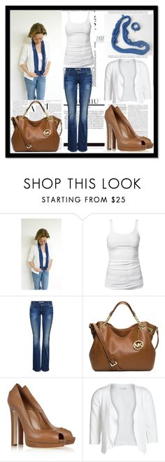 """""""Blue spirit"""" by allegri-capricci ❤ liked on Polyvore featuring James Perse, ONLY, Michael Kors, Alexander McQueen and Pieces"""