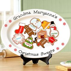 Personalized Christmas Sweets Platter - great gift for Mom, Grandma, Aunt, etc...