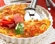Rezept Nudelpizza von Thermomix Rezeptentwicklung - Rezept der Kategorie Hauptgerichte mit Fleisch