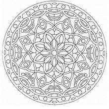Mandala  50 - Coloring page - MANDALA coloring pages - Mandalas for EXPERTS
