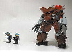 LEGO Mecha with troops