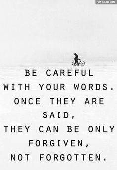 Seriously, be careful