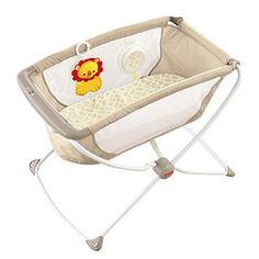 A lightweight portable bassinet that folds flat for easy storage.