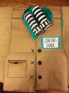DIY Safari vest and binoculars for a safari themed classroom!