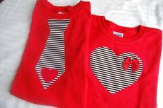 RED Valentine's Day Onesie or Toddler TShirt  by @ShopMelissa