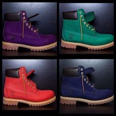 Custom Colored (dyed) Timberlands Boots (Youth) by RosaCreate on Etsy https://www.etsy.com/listing/505541375/custom-colored-dyed-timberlands-boots