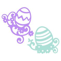 Silhouette Design Store: easter egg florals