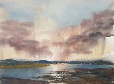 Estuary Original Art Watercolour Painting by Steven Cronin