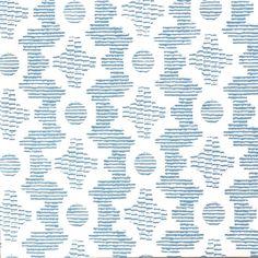 """Clara B"" wallpaper in baltic blue from Sister Parish Design"