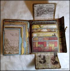 Vic's Creations: Compendium of Curiosities iii Challenge - Jazz World Tour, Collection Folio You are in the right place about Vintage Jewelry box Here we offer you the most beautiful pictures abou Mini Albums, Mini Scrapbook Albums, Papel Scrapbook, Scrapbook Journal, Vintage Scrapbook, Altered Books, Altered Art, Tutorial Scrapbook, Mini Album Tutorial