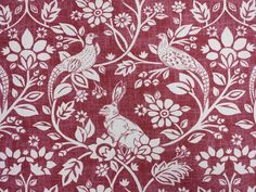 """Heathland Rouge Cotton Fabric. suitable for curtains, cushions, roman blinds, light domestic upholstery. and all craft projects. This sale is for 1 metre of 137cm/54"""" wide fabric. We put a great deal of effort into taking images which represent the colours as closely as possible however the appearance of colours will always vary slightly from one computer screen to another. 