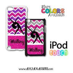 iPod Touch 4th / 5th Generation Case / Cover - Bling / Glitter Dance - Chevron - Monogram - Personalized iPod Case - iPod 4 - iPod 5