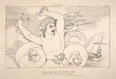Scylla  Engraving and etching on paper  John Flaxman  1805  Tate Gallery