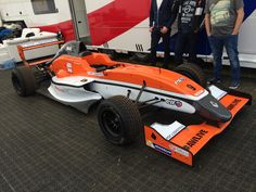 The FR2.0 car of MP Motorsport, that Max Verstappen tested in.