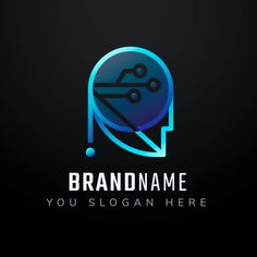 Gradient robotic editable slogan vector icon design | premium image by rawpixel.com / Kappy Kappy Luxury Business Cards, Blank Business Cards, Simple Business Cards, Business Card Design, Business Poster, Business Logo, Lettering Design, Branding Design, Vector Technology