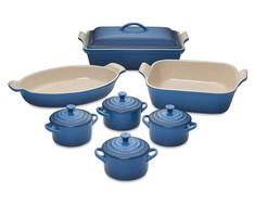 I love the Le Creuset Heritage Stoneware 12-Piece Bakeware Set, Marseille Blue on Williams-Sonoma.com
