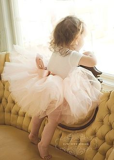 Antique pink 8 super fluffy sewn tutu with ribboned waist. LOVE TUTU!! <3