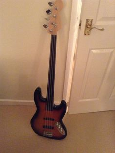 My own fretless. Squire mod jazz bass with better quality replacement neck with ebony fingerboard.