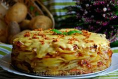 Tort ziemniaczany - PrzyslijPrzepis.pl Polish Recipes, Lasagna, Cabbage, Recipies, Food And Drink, Appetizers, Healthy Eating, Potatoes, Dinner
