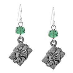 Brincos conta vidro (FP rondelle) + berloque Gift box-  Gift For You Earrings-Fusion Beads
