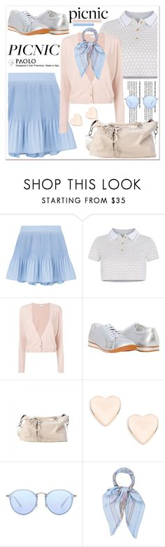 """Picnic in the Park and PaoloShoes"" by spenderellastyle ❤ liked on Polyvore featuring Adriana Iglesias, RED Valentino, Ted Baker, Ray-Ban, Hermès and picnic"