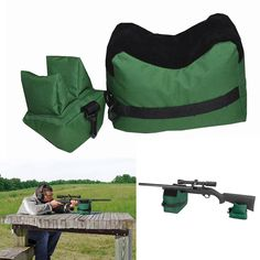Portable Shooting Rear Gun Rest Bag Set Front & Rear Rifle Target Hunting Bench Unfilled Stand Hunting Gun Accessories