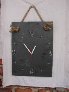 Zegar ścienny, kamień naturalny łupek, Biłgoraj - image 1