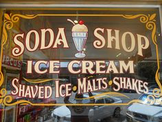 Talk about Old School!! ------------------------------------------------------ Soda Shop-Austin, TX by Best Dressed Signs, via Flickr