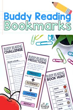 Is your Daily 5 Buddy Reading Center as effective as you'd like for it to be? These digital and printable reading buddies bookmarks are guaranteed to lead to more student engagement. Elementary students can practice decoding unknown words, answering comprehension questions, making connections, and retelling stories with these bookmarks. Reading response sheets are also available for additional accountability during literacy centers. A must-have for your reading workshop! Partner Reading, Reading Response, Student Reading, Reading Centers, Reading Workshop, Literacy Centers, Short I Words, E Words, Daily 5 Centers