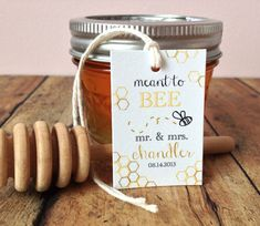 Bee wedding favor tags Meant to be tags wedding by PrintSmitten
