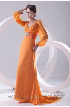 elegant dress #orange #modest