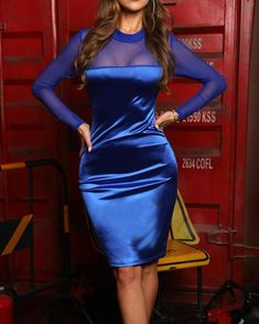 Long Sleeve Mesh Insert Bodycon Dress Shop- Women's Best Online Shopping - Offering Huge Discounts on Dresses, Lingerie , Jumpsuits , Swimwear, Tops and More. Buy Dress, Dress Skirt, Bodycon Dress, Trendy Outfits, Fashion Outfits, Womens Fashion, Celebrity Outfits, Fasion, Dress Fashion