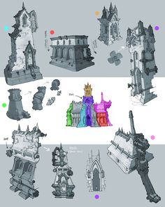 autodestruct : digital: These are bits of buildings.