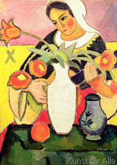 August Macke - The Lute Player, 1910
