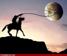 """Reminds me of the song """"She Thinks I can Rope the Moon""""..."""
