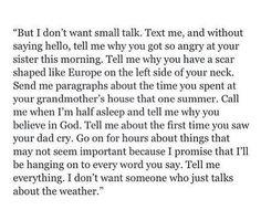 I dont want small talk