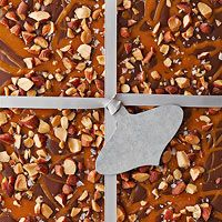Salted Dark Chocolate-Almond Bark Recipe