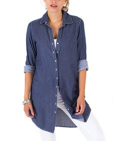 great long chambray shirt