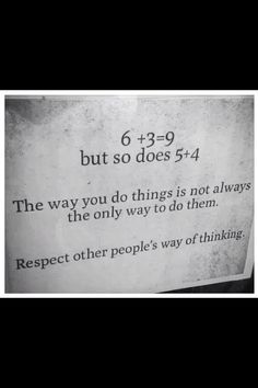 Funny pictures about Respect Other People's Way Of Thinking. Oh, and cool pics about Respect Other People's Way Of Thinking. Also, Respect Other People's Way Of Thinking photos. Work Quotes, Great Quotes, Quotes To Live By, Me Quotes, Motivational Quotes, Inspirational Quotes, Qoutes, Random Quotes, The Words