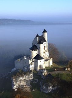 Reconstructed 14th-century Bobolice Castle, Poland.