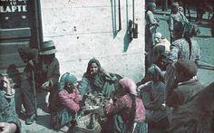 Sinti and Roma on Sidewalk, Sofia, Bulgaria by Horst Grund 1942